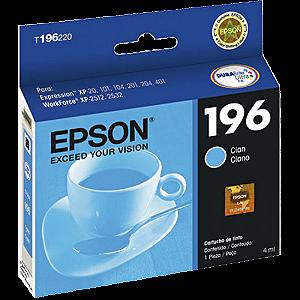 CARTUCHO EPSON T196220BR DURABRITE CIANO || CAIXA UNID
