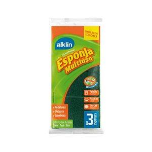 ESPONJA DUPLA FACE ECONOMICA ALK-7176 || PCT C/3