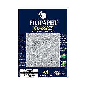 PAPEL FILIPAPER VERGE 180GRS CINZA R.979 || PCT C/50