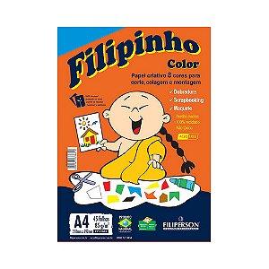 PAPEL FILIPINHO COLOR 45FLS A4  85GR COLORIDO R.1661 || PCT UNID