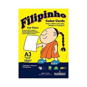 PAPEL FILIPINHO COLOR CARDS 12FLS A3 120GR BR R.01030 || PCT UNID