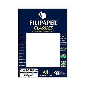 PAPEL FILIPAPER COUCHE 180GRS A4 BRANCO R.1047 || PCT C/50
