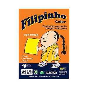 PAPEL FILIPINHO COLOR A4 85G AMARELO 45FLS R.01043 || PCT C/45