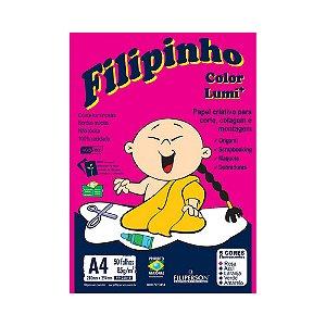 PAPEL FILIPINHO 85GRS A4 50FLS LUMI C/5 CORES R.3819 || PCT C/50