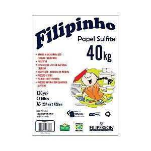 PAPEL FILIPINHO SULFITE 40K A3 120G BRANCO 25FLS R.1781 || IND UNID