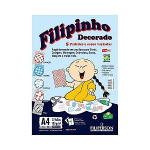 PAPEL FILIPINHO DECORADO A4 180G 32FLS R.1774 || IND UNID