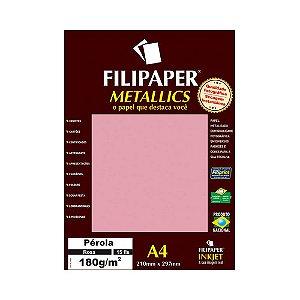 PAPEL FILIPAPER PEROLA 180GRS A4 15FLS ROSA R.01104 || PCT C/15