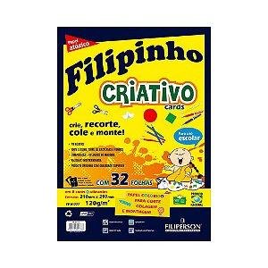 BLOCO FILIPINHO CRIATIVO A4 32FLS 120GRS C/8 CORES R.1777 || UNIDADE