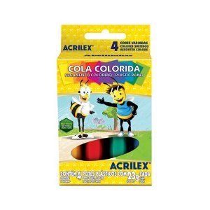 COLA COLORIDA 4 CORES R.02604 || CAIXA UNID