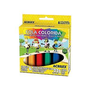 COLA COLORIDA 6 CORES R.02606    CAIXA UNID