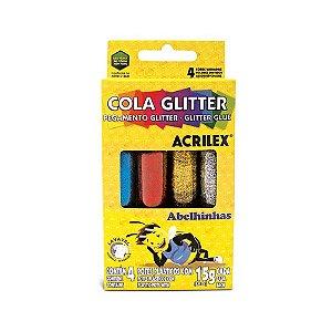 COLA C/BRILHO 15G 4 CORES 02924 || CAIXA UNID