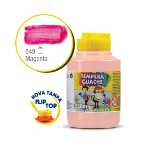 TEMPERA GUACHE 02025 250 ML 549 MAGENTA || CAIXA C/3