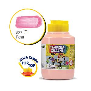 TEMPERA GUACHE 02025 250 ML 537 ROSA || CAIXA C/3