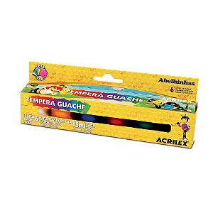 TEMPERA GUACHE 15 ML C/6 CORES R.02006 || IND UNID