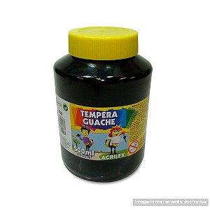 TEMPERA GUACHE 02050 500 ML 520 PRETO || IND UNID