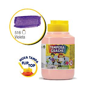 TEMPERA GUACHE 02023 250 ML 516 VIOLETA || CAIXA C/3