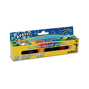 TEMPERA GUACHE 15 ML C/6 CORES LAVAVEL R.02106 || IND UNID