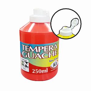 TEMPERA GUACHE 250ML KIT VERMELHO || CAIXA C/3