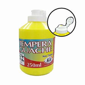 TEMPERA GUACHE 250ML KIT AMARELO || CAIXA C/3