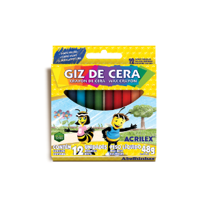 GIZ DE CERA PEQUENO 12 CORES R.09012