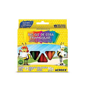 GIZAO DE CERA 12 CORES TRIANGULAR 09312