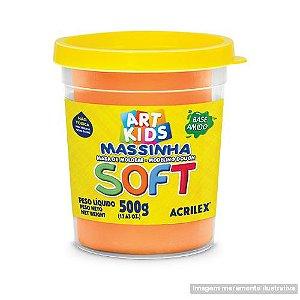 MASSA P/MODELAR SOFT 500GR 105 LARANJA