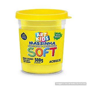 MASSA P/MODELAR SOFT 500GR 102 AMARELO LIMAO