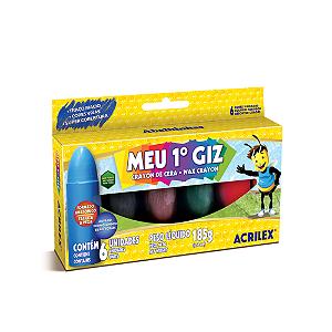 GIZAO DE CERA 6 CORES JUMBO MEU 1  GIZ R.09506