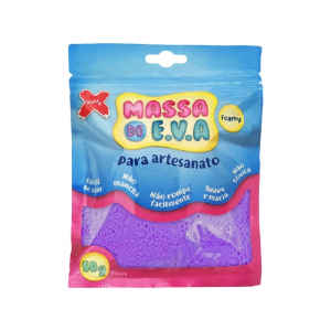 MASSA EVA P/ARTESANATO 50GRS ROXO R.13010 || UNIDADE