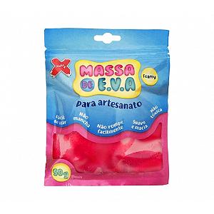MASSA EVA P/ARTESANATO 50GRS VERMELHO R.13014 || UNIDADE