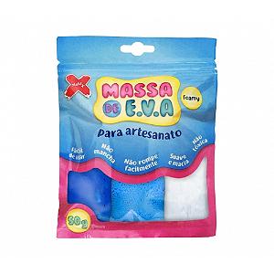MASSA EVA P/ARTESANATO 50GRS AZ CL/BRA/AZ ESC R.13017 3CORES || UNIDADE