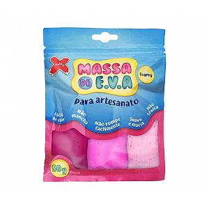 MASSA EVA P/ARTESANATO 50GRS ROSA/ROSACL/PINK R.13018 3CORES || UNIDADE