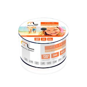 CD-R 80MIN 700MB 50 CD´S 52X MULTILASER CD051
