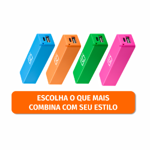 CARREGADOR UNIV. PORTATIL POWER BANK SORTIDO R.CB078
