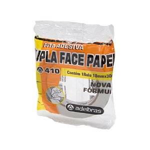 FITA ADESIVA F.P. 18X30 DUPLA FACE PAPEL 0813000004 || IND UNID