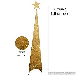 ARVORE NATAL ILUMINADA ARAMADA 150CM 6391-5