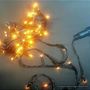 PISCA LED PROVA D AGUA 9.5MTS 100LAMP 6366-76 AMARELO