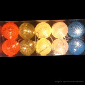PISCA BOLA LINHA 4.5MTS 10 LAMP YW543M AMARELO