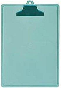 Prancheta A4 c/Prend. Plastico Verde Clear 131.4 Acrimet