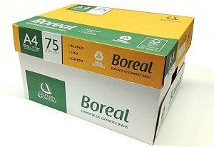 Papel sulfite A4 75grs branco cx10pt 500fls Boreal