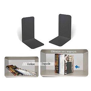 Bibliocanto Premium Preto c/ Base Antideslizante (Suporte para Livros) (caixa com 24 pares) 292.5 Acrimet