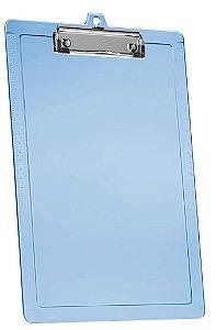 Prancheta oficio azul clear com réguas laterais e prend. wire 134.2 Acrimet