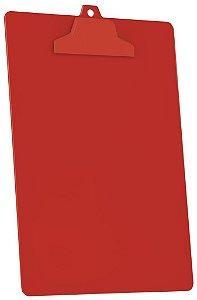 Prancheta A4 pop prend plastico vermelho solido 129.6 Acrimet