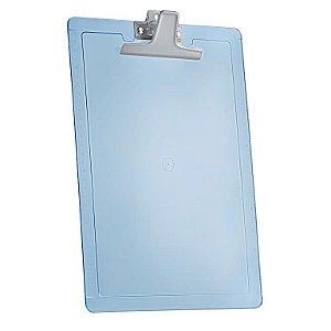 Prancheta oficio azul clear com réguas laterais e prend. zincado 133.2 Acrimet