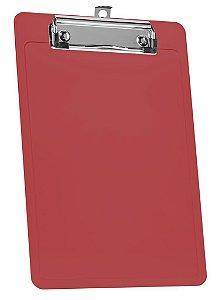 Prancheta 1/2 Oficio Vermelho Clear Wire Clip 137.6 Acrimet
