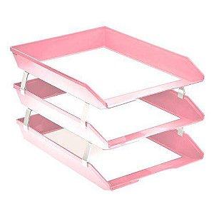 DUPLICADO - Caixa Correspondencia Oficio Facility Frontal Tripla rosa solido 265.RO Acrimet