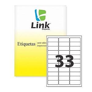Etiquetas 9013  A4 33 com 100 Folhas Linklabel