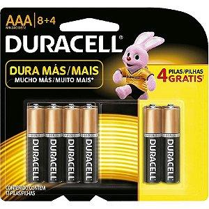 Pilha alcalina palito 1,5v c/12un AAA Duracell