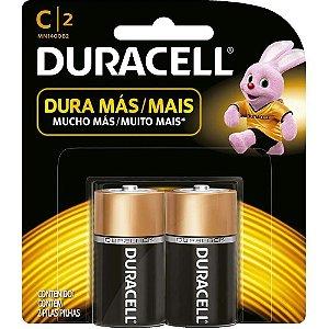 Pilha alcalina media 1,5v c/2un C/2 Duracell
