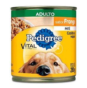 Ração Úmida Patê Pedigree Lata Vital Pro para Cães Adultos Sabor Frango - 280g